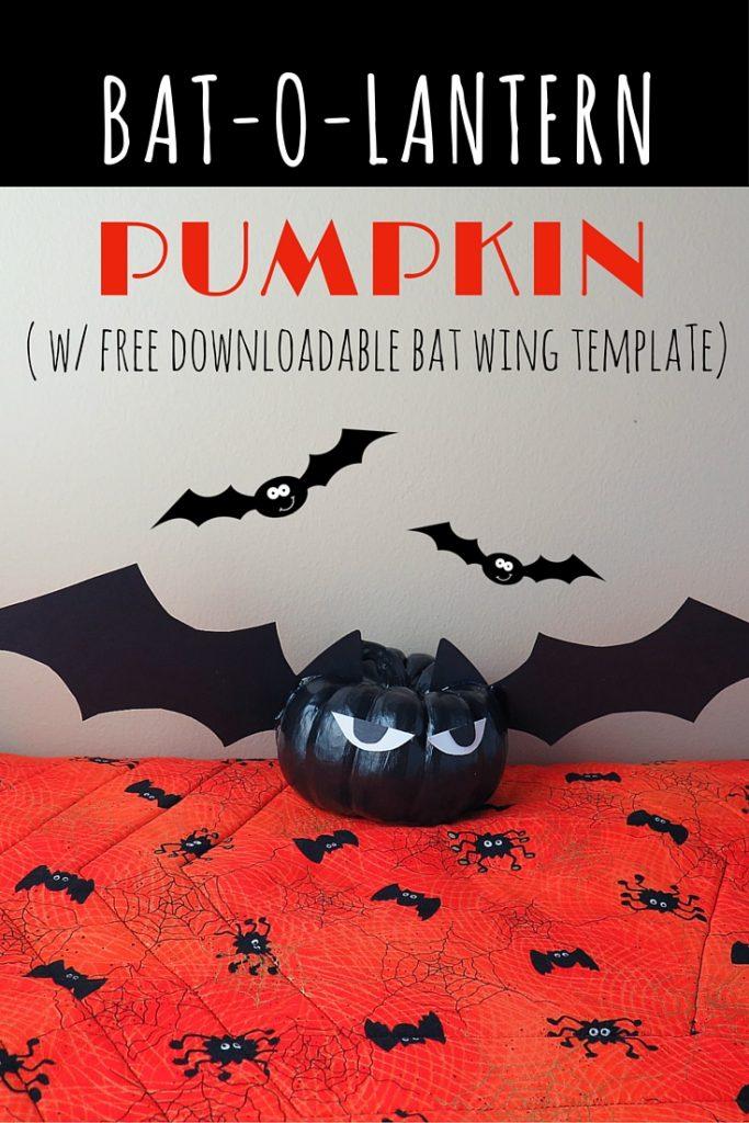 Easy Halloween Decorations: Black Pumpkin Bats