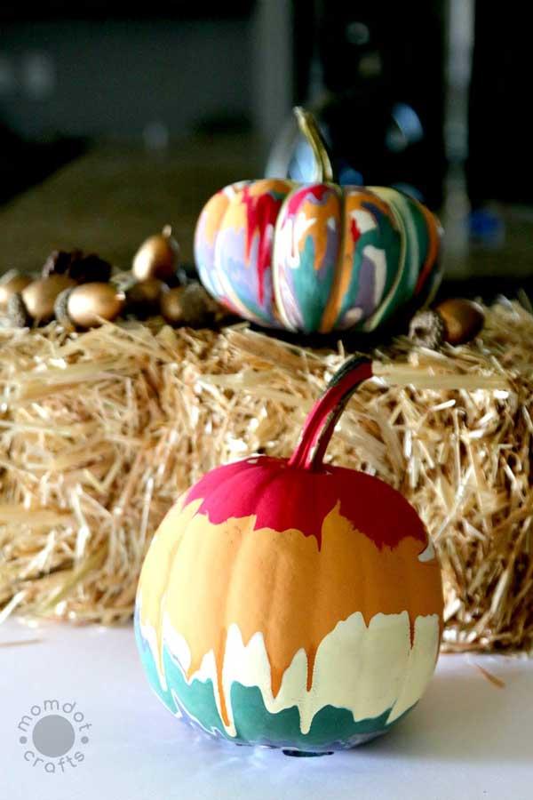 Drip Painting Pumpkins