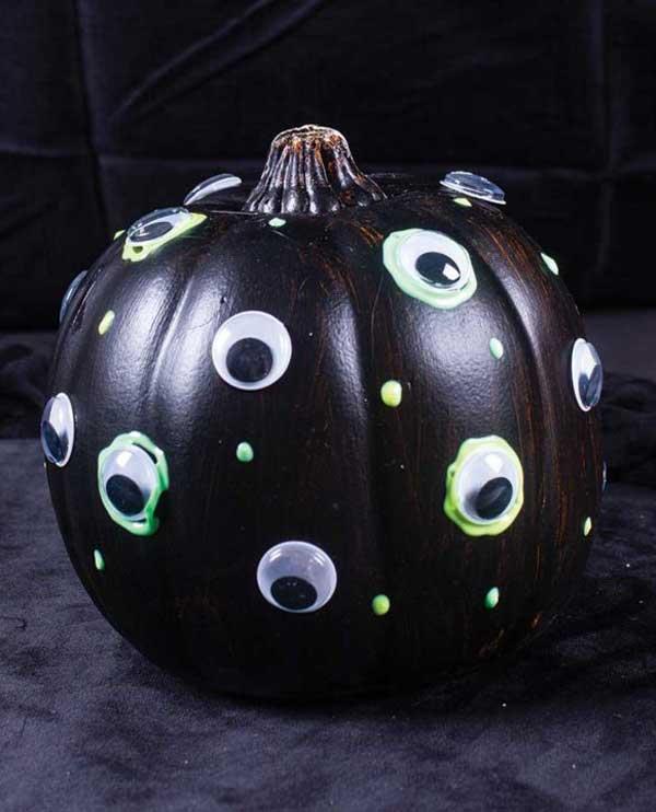 Googly Eye Painted Pumpkin