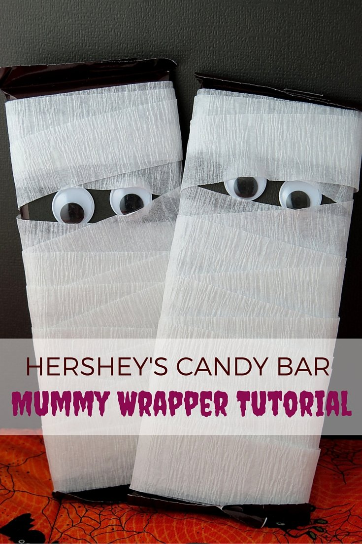 Halloween Treats: Candy Bar Mummy Tutorial