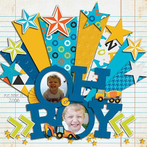 Face Framing Letters Scrapbook Idea