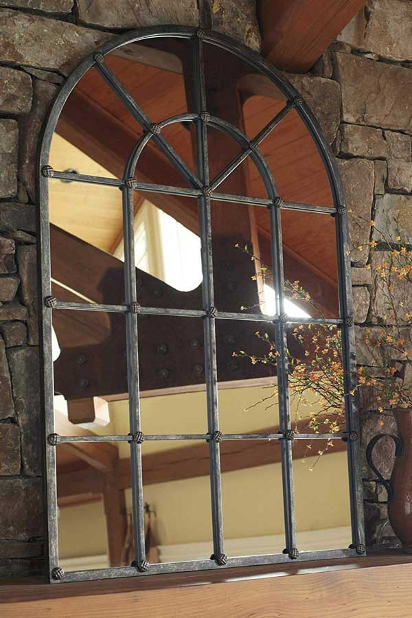 Mirror on Fireplace Mantel