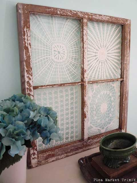 Rustic Window Frame Idea