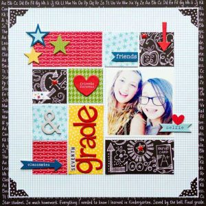 Scrapbook Layout with Letter Stickers