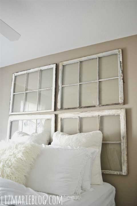 Window Frame Headboard