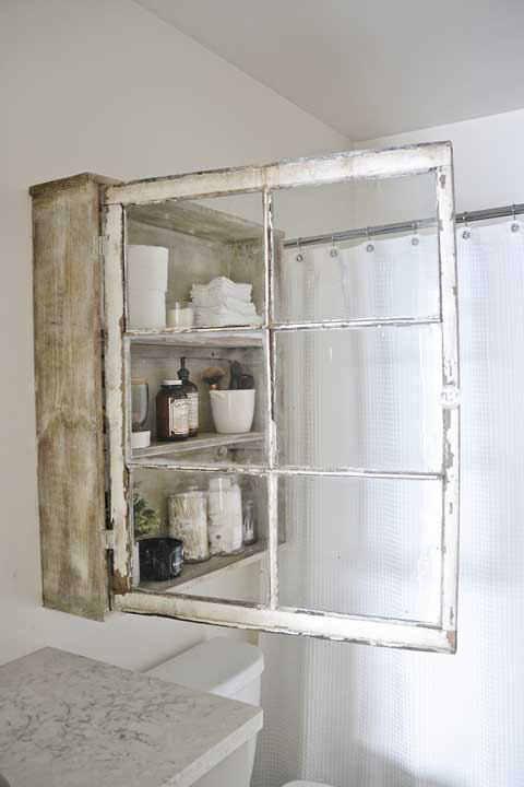 Window Frame Wall Cabinet