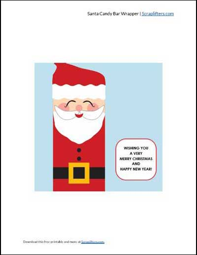 Santa Candy Wrappers PDF