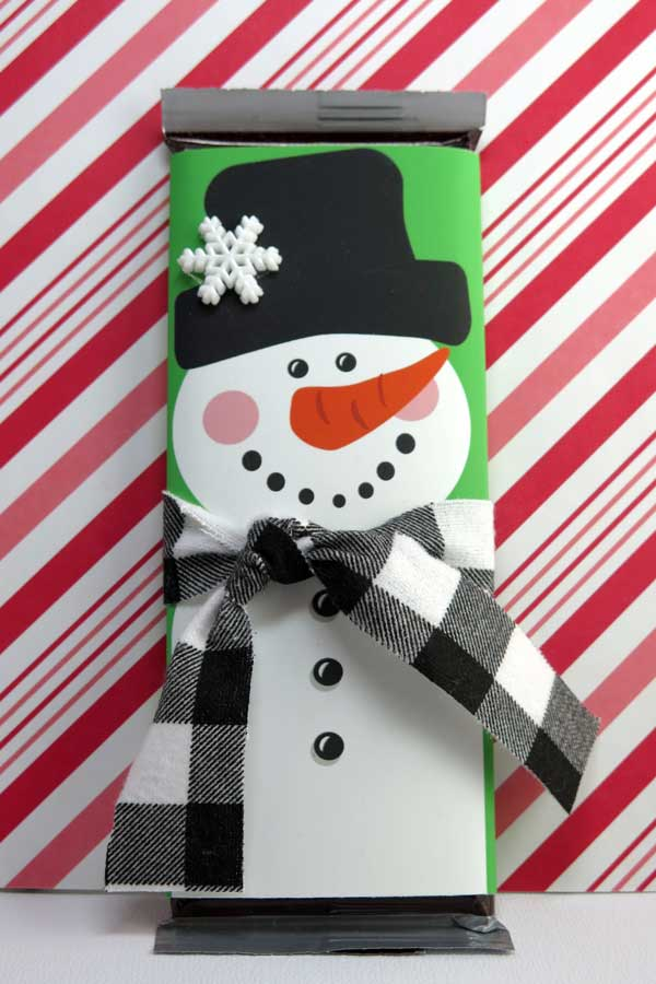 Snowman Candy Bar Wrapper
