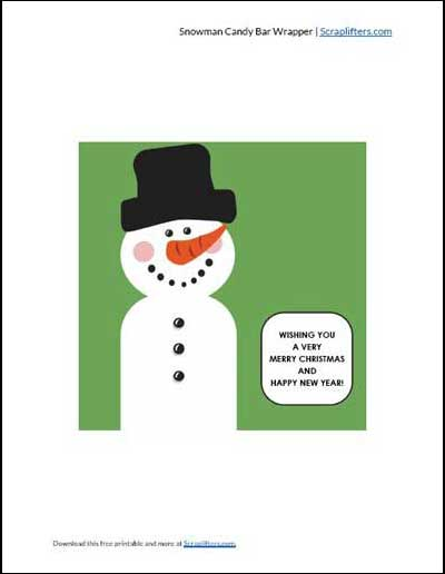 Snowman Candy Wrappers PDF